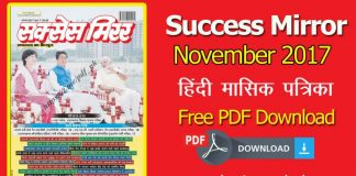 Success Mirror November 2017 PDF in hindi