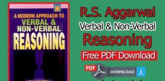 R. S. Aggarwal Verbal & Non-Verbal Reasoning Book