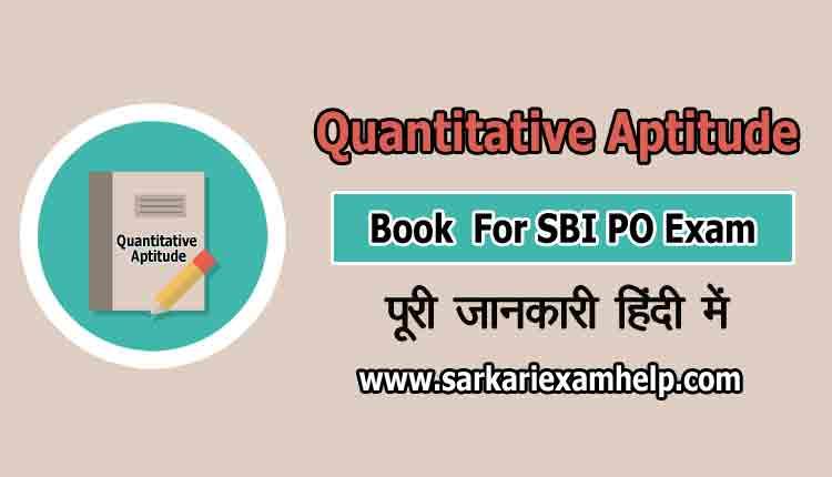 best quantitative aptitude book for sbi po exam