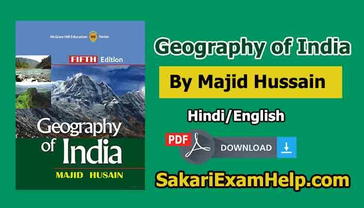 Majid Husain Indian Geography PDF Book in Eng & Hindi Free Download