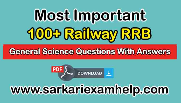 RRB General Science Questions PDF in Hindi
