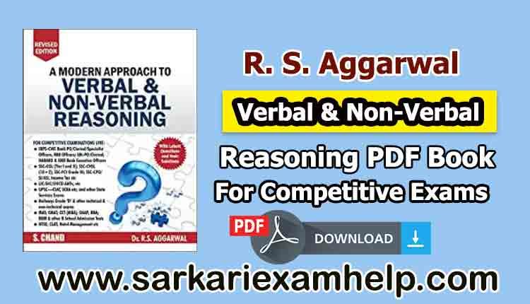 R. S. Aggarwal Verbal & Non-Verbal Reasoning PDF Book in Hindi