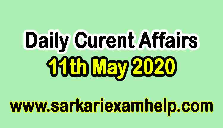 11th May 2020 Daily Current Affairs Quiz