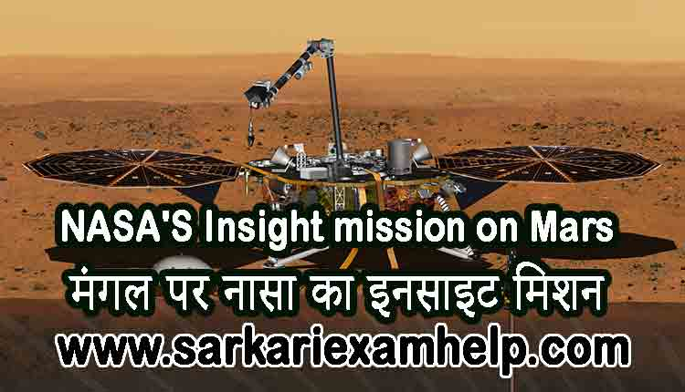 NASA'S Insight mission on Mars - मंगल पर नासा का इनसाइट मिशन