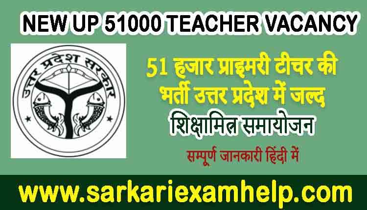 New UP 51000 Teacher Vacancy