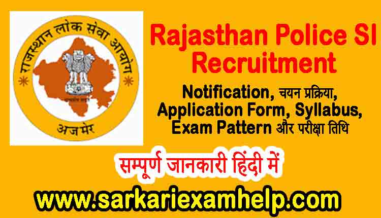 Rajasthan Police SI Recruitment 2021
